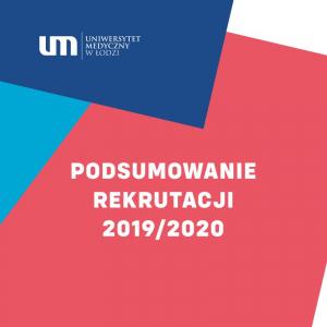 Obrazek opisujący PODSUMOWANIE REKRUTACJI 2019/2020